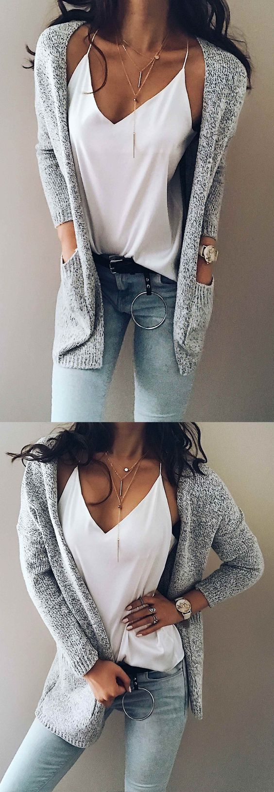 ONLY $33.99! Chicnico Women's Knit Going out Street chic Gray Long Sleeve Cotton Fall Sweaters Cardigan FALL FASHION 2017 TREND CHEAP ONLINE STORE