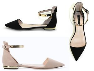 Two pair up for grabs. Brand New Zara flats. NIB. Black pair and Nude pair. Size 38.