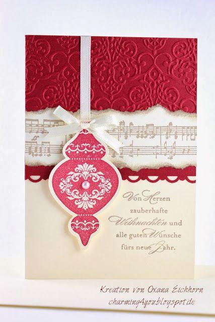 Charming4you: Weihnachtskarten, Christmas card