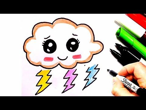 How To Draw A Cloud Things To Draw How To Draw Cute Things Cute Easy Cloud Drawing Youtube Cloud Drawing Cute Drawings Drawings