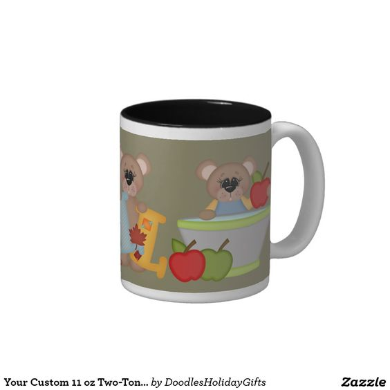 Your Custom 11 oz Two-Tone Mug Fall Bears