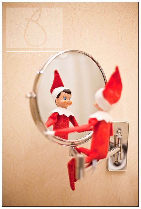 Elf on the shelf day 6 followed us on vacation caught for Elf on the shelf bathroom ideas