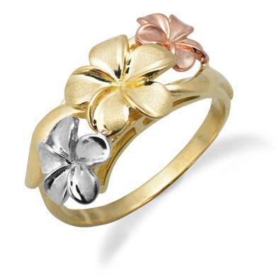 Hawaiian Jewelry Plumeria Ring