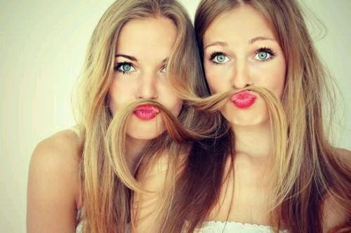 Super Fun Best Friend Photography Ideas - Fake mustache
