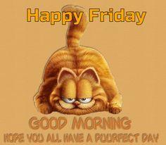 Happy Friday Good Morning Garfield Gif