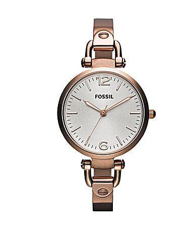 Fossil Georgia Gold Bracelet Watch #Dillards