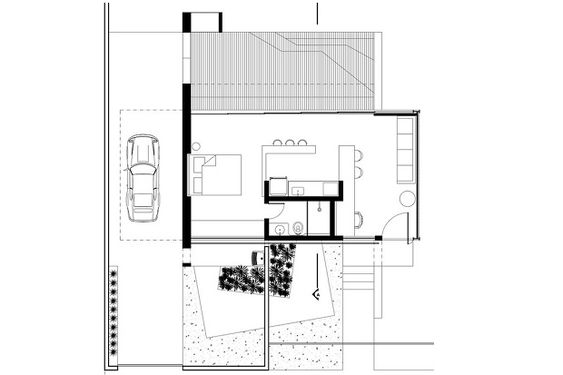 小屋1 平面図 480-Square-Foot-12.20-Contemporary-House-Design-8
