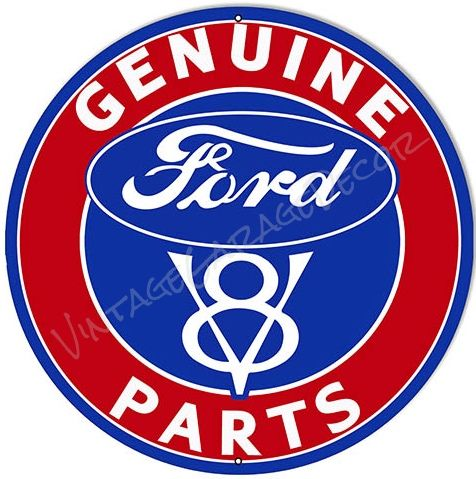 Vintage Style Ford V8 Genuine Parts Automobile Parts Gas