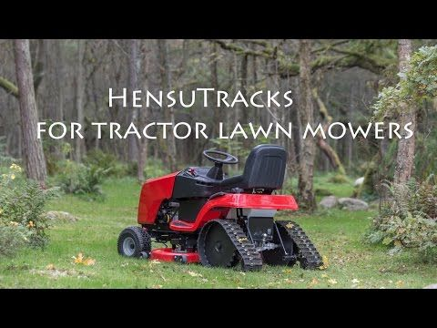 Hensutracks For Lawn Mowers Youtube Tractors Garden Tractor Zero Turn Mowers