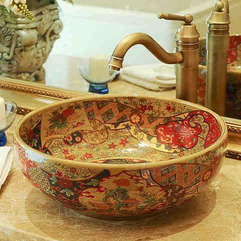 China Procelain Wash Basin Sink Ceramic Art Sinks Countertop