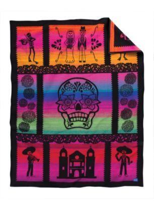 Dia de los Muertos blanket