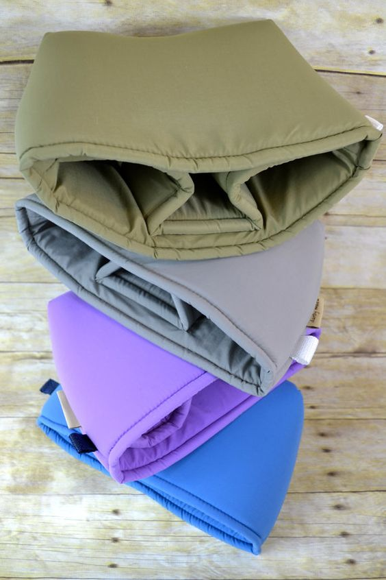 Camera Bag DSLR /  Blue, yellow, pink Water resistant fabric, foam padded insert, men or women, for your purse, backpack Darby Mack in stock...