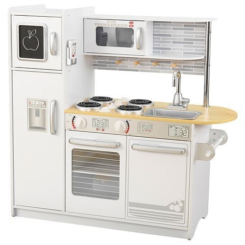 Free Shipping By Amazon The Next Video Is Starting Stop Kidkraft Uptown White Play Kitchen Just Like So Many We Play Kitchen Sets Uptown Kitchen Play Kitchen