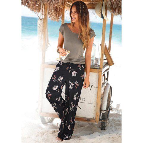 Combinaison pantalon imprimé femme Lascana - Kaki / imprimé- Vue 1