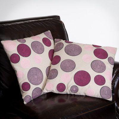 Home Loft Concepts Madrid Circles Throw Pillow