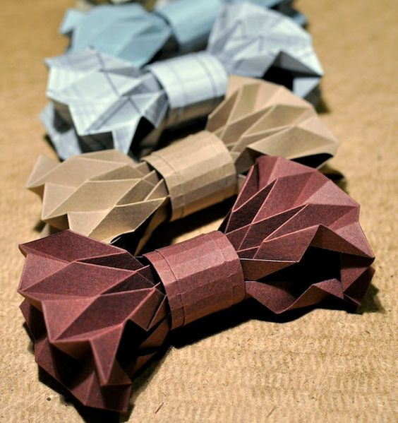 diy noeud papillon origami