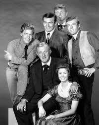The Virginian, Judge Garth, Trampas, Betsy, Randy, & Sheriff Ryker