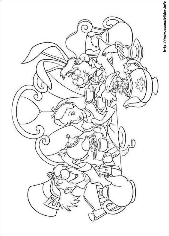 Alice im Wunderland malvorlagen | Coloring Pages for SACC | Pinterest