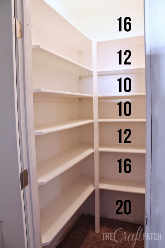 The Craft Patch: How to Build Pantry Shelves