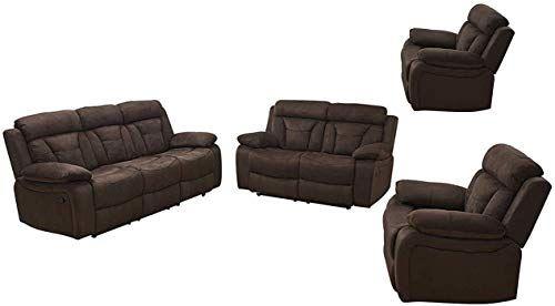 New Betsy Furniture 4pc Microfiber Fabric Recliner Set Living Room Set Brown Sofa Loveseat Chair Pillow Top Backrest Armrests 8005 3211 4 Living Room Set 3 In 2020 Living Room Recliner Living Room Sets Loveseat Sofa