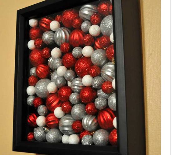 Ornaments in a shadow box(: