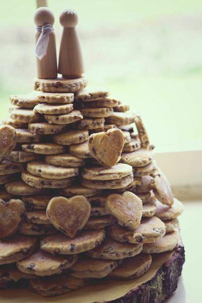cookie tower wedding cake