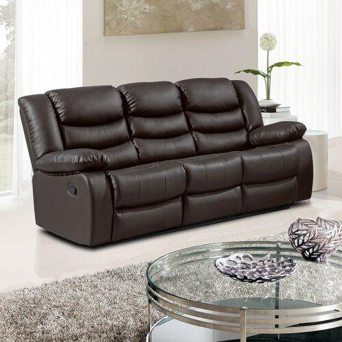 Johnsen 3 Seater Reclining Sofa Mercury