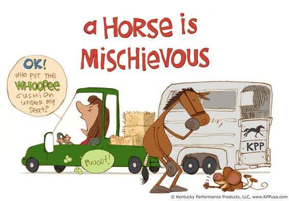 A horse is mischievous. ©Kentucky Performance Products, LLC  #horses