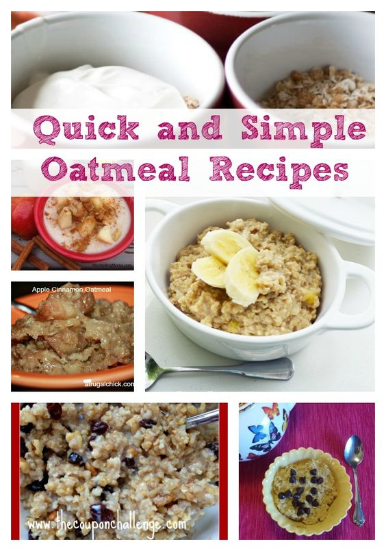 When it's cold outside, a nice bowl of oatmeal is the perfect breakfast.  Keep your mornings interesting with these 9 QUICK and simple oatmeal recipes.: Weight Watchers, Strawberry Pie, Oatmeal Recipescollage, Cooking Recipes