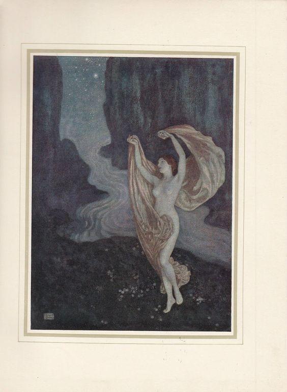 EDMUND DULAC * To One in Paradise * Edgar Allan Poe * Kunstdruck Art Print 1912