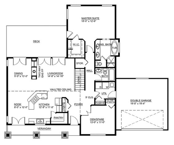 House Plans Square Feet Bathroom Traditional House Floor Plans House