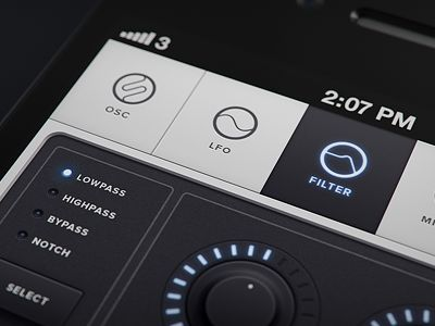Beautiful black and white iOS layout found on Dribbble.