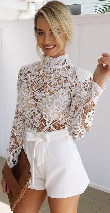 Lace all white cocktail dress