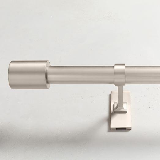 Oversized Metal Double Rod Brushed Nickel In 2020 Metal