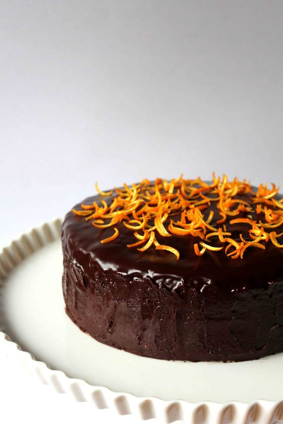 Chocolate cakes, Chocolate orange and Glaze on Pinterest
