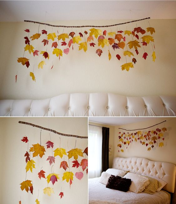 Fall leaf installation