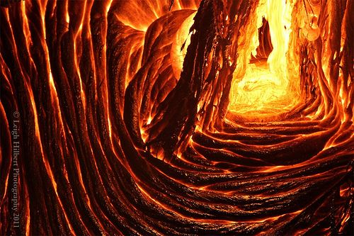 Inside a lava cave ( SparkyLeigh) flickr..I wonder how da hell did they get a camera down there?