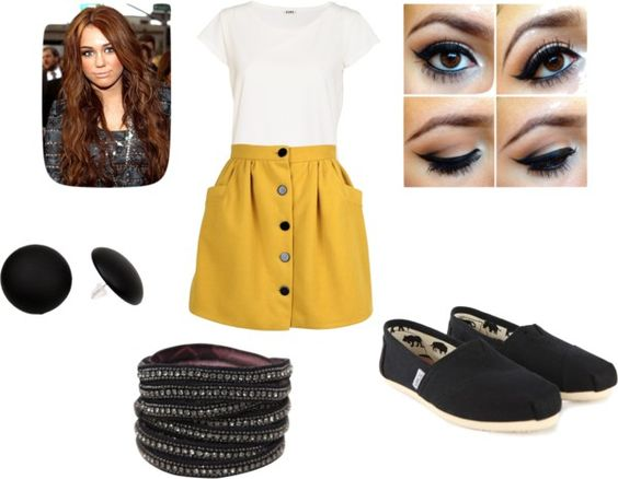 """""""Mustard and Black"""" by sidneeward on Polyvore"""