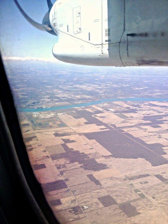 Jet-setter - Flying over Windsor, ON // Sweet Spontaneity