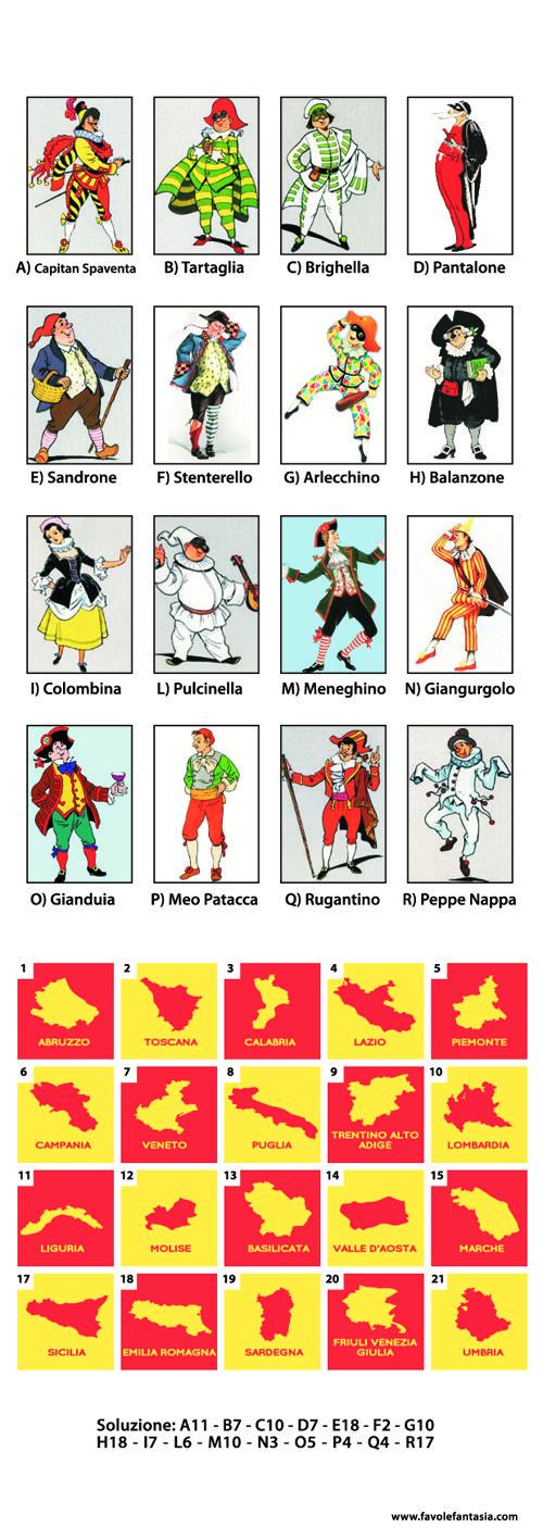 Le Maschere Tradizionali Italiane Le Maschere Italiane