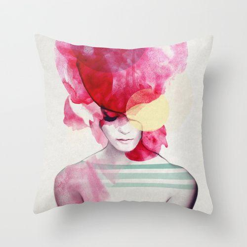 Bright Pink - Part 2  Throw Pillow