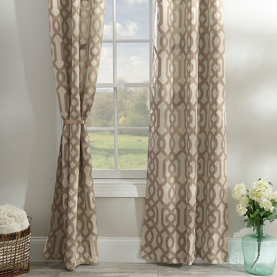 Taupe Gatehill Curtain Panel Set, 95 in | Taupe, Products and ...