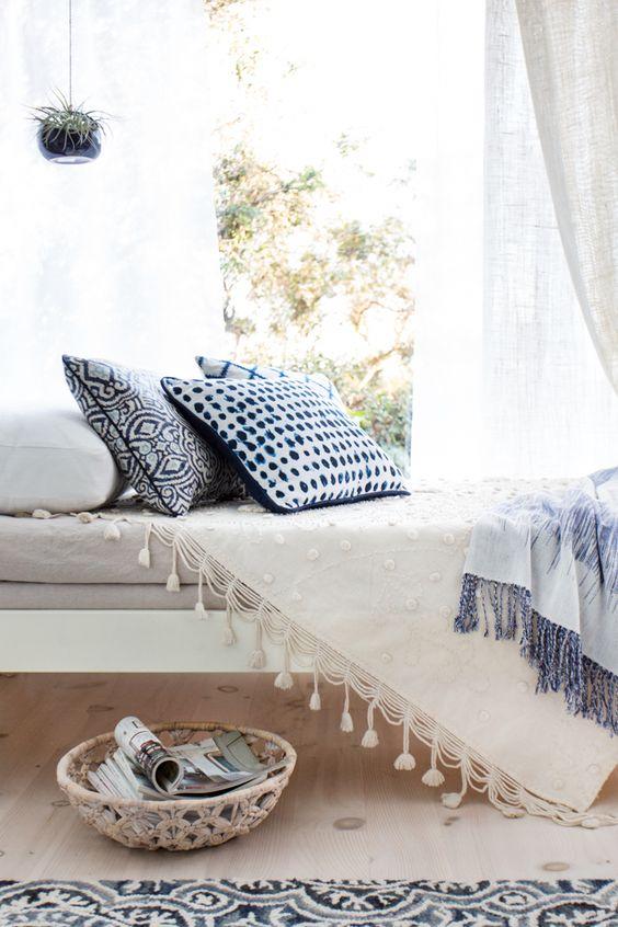 Emily_Henderson_Target_Sun_Room_Threshold_Archipelago_Air_Plant_Blue_White_Bright_Day_Bed