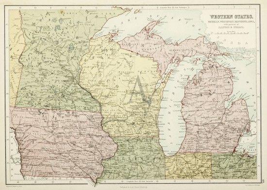 map of wisconsin and iowa Western States Michigan Wisconsin Minnesota Iowa With Portions map of wisconsin and iowa
