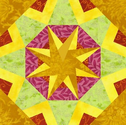 Foundation paper pieced   Kaleidoscope block in PDF
