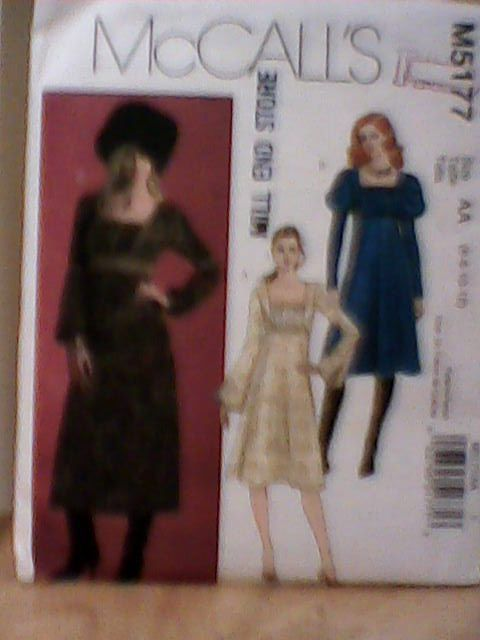McCall's Uncut Pattern M5177 Medieval Style Dress sz 6,8,10,12 #KwikSew