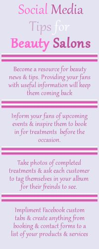 Click for more tips * This infographic is for the Social Media Savy Salon Owner…