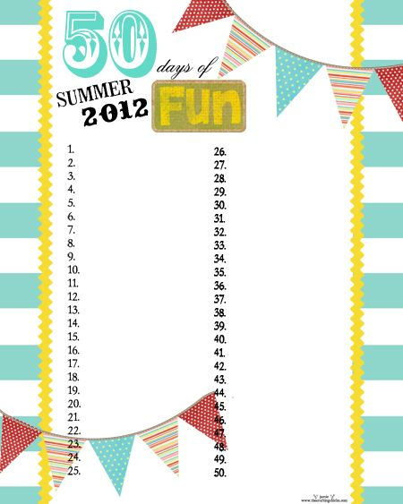 Printable list for summer
