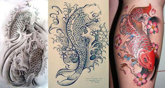 24 tatuajes de pez koi y su significado tattoos for Significado de pez koi