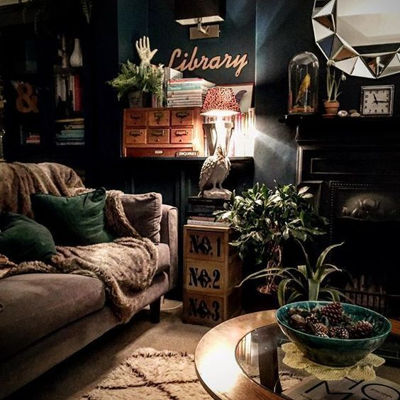 Magical Homestead Dark Walls Living Room Designs Living Room